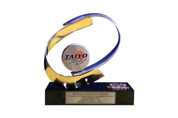 Prêmio de Excelência em Sustentabilidade do Instituto Cultural da Fraternidade Universal 2011 | Hotel Taiyo - Caldas Novas