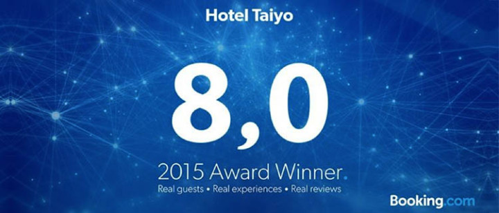 Guest Review Award do Booking.com 2015 | Hotel Taiyo