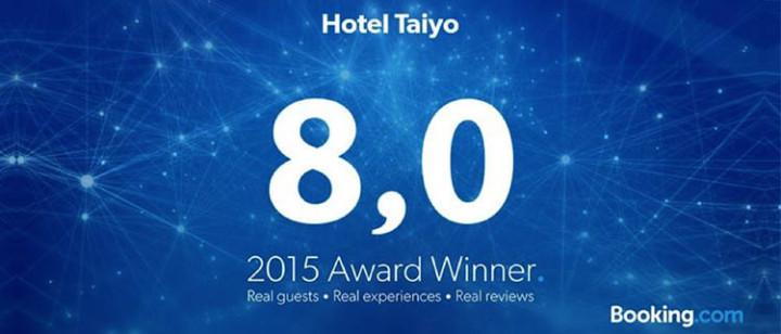 Hotel Taiyo ganhou um Guest Review Award do Booking.com | Hotel Taiyo
