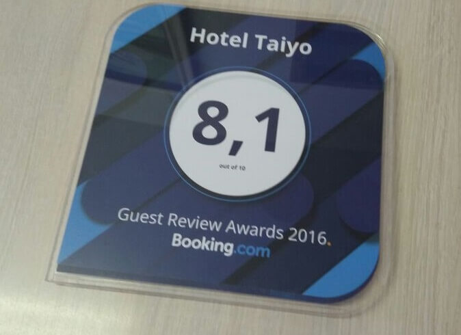 Review Award do Booking.com 2016