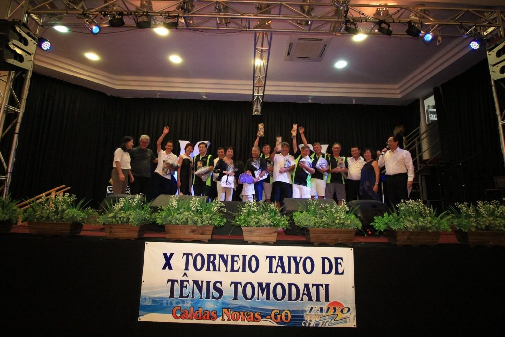 """Hotel Taiyo em Caldas Novas – X Torneio Taiyo de Tênis – """"Tomodati""""."""